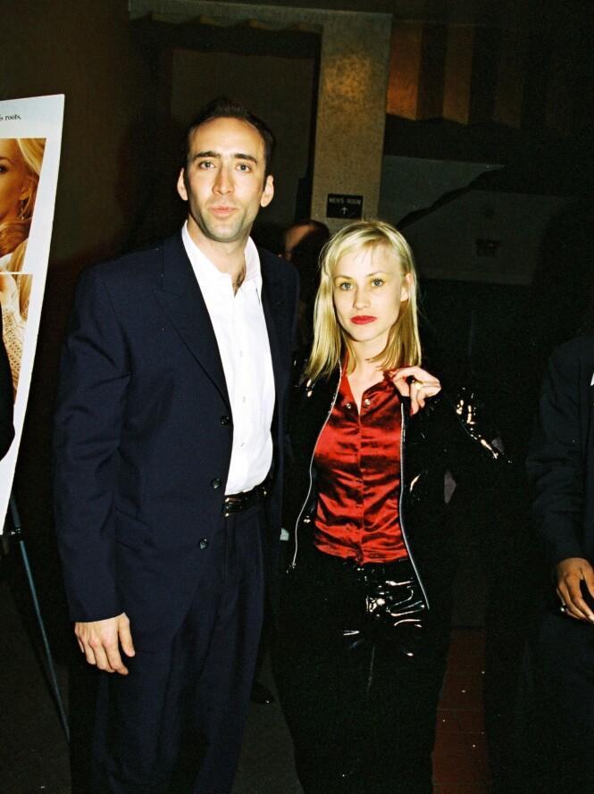 1995-2001: Nicolas Cage og Patricia Arquette. Foto: Scanpix