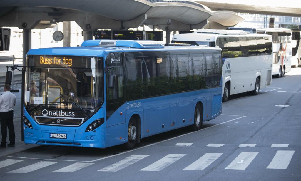 BUSS FOR TOG: Vy forteller at de har fått henvendelser fra kunder som ikke er fornøyd med sommerens avvikling av buss for tog. Foto: Terje Bendiksby/NTB Scanpix
