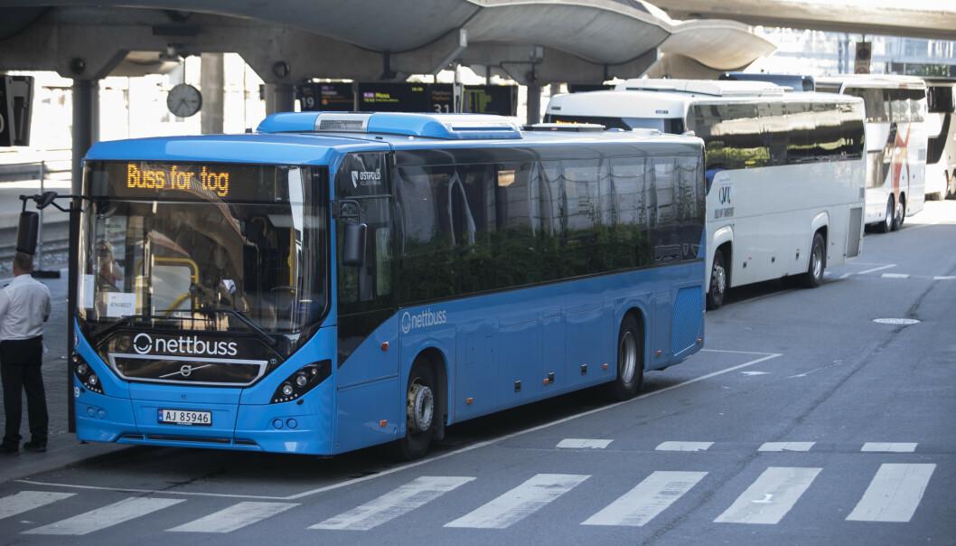 <strong>BUSS FOR TOG:</strong> Vy forteller at de har fått henvendelser fra kunder som ikke er fornøyd med sommerens avvikling av buss for tog. Foto: Terje Bendiksby/NTB Scanpix