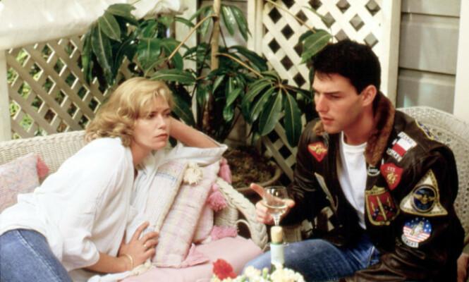 <strong>SEX-SYMBOL:</strong> Kelly McGillis i filmen «Top Gun» sammen med Tom Cruise. Her avbildet i 1986. Foto: NTB Scanpix