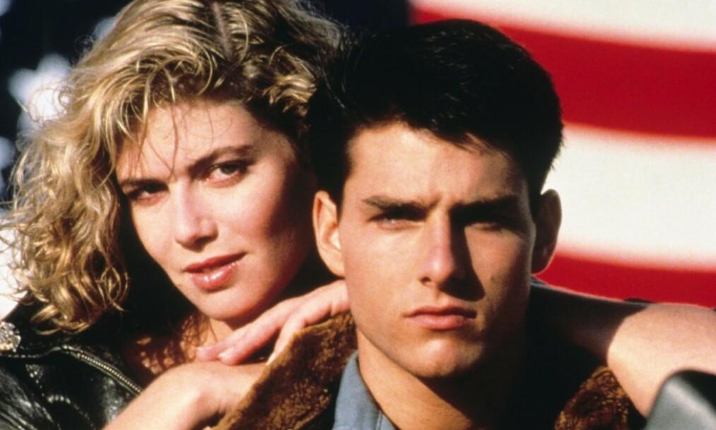 <strong>FILMSTJERNE:</strong> Skuespilleren Kelly McGillis oppnådde enorm suksess med filmen «Top Gun», men valgte med åras løp å trekke seg unna rampelyset. Nå forteller hun hvorfor. Her er hun avbildet sammen med Hollywood-stjernen Tom Cruise i suksessfilmen. Foto: NTB Scanpix