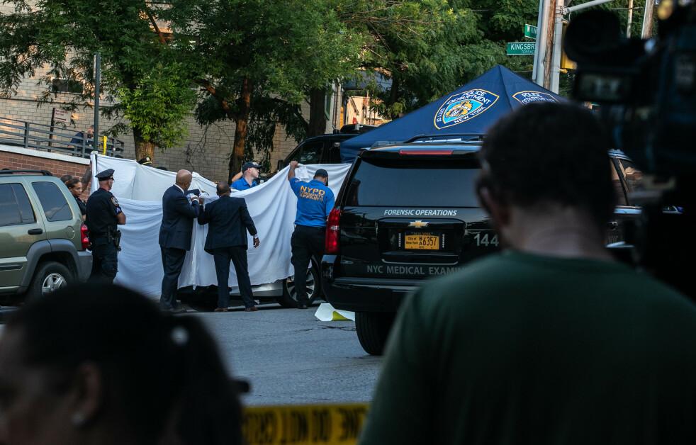 ÅSTEDET: Det var her den amerikanske fembarnsfaren Juan Rodriguez glemte tvillingbarna Phoenix og Luna i bilen, før han dro på jobb i The Bronx i New York. Åtte timer senere oppdaget han at barna var døde som følge av heteslag. FOTO: NTB Scanpix