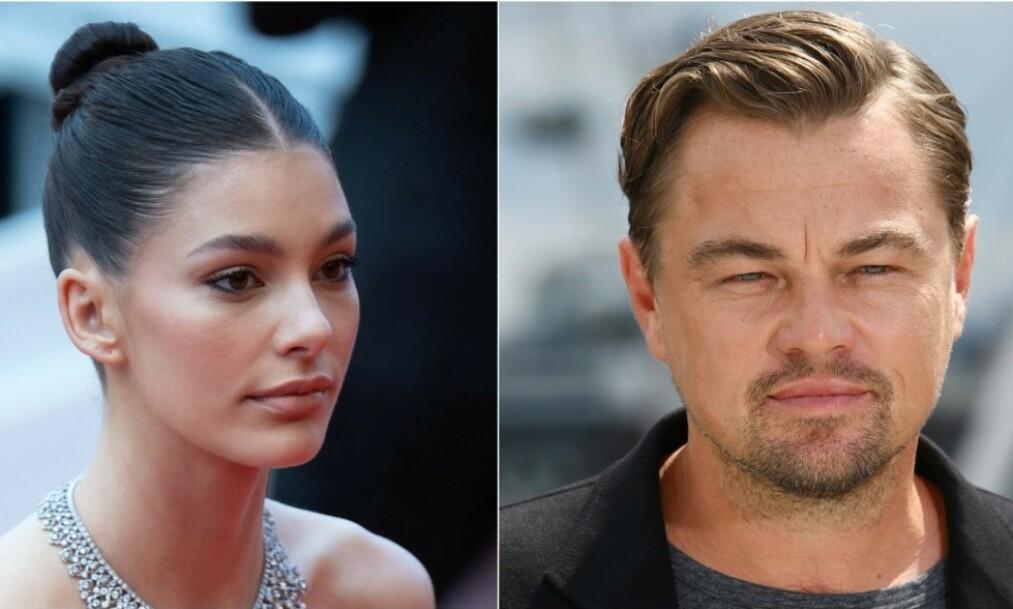 STOR ALDERSFORSKJELL: Det skiller 22 år mellom supermodellen Camila Morrone og Leonardo DiCaprio. Foto: AP/ NTB Scanpix