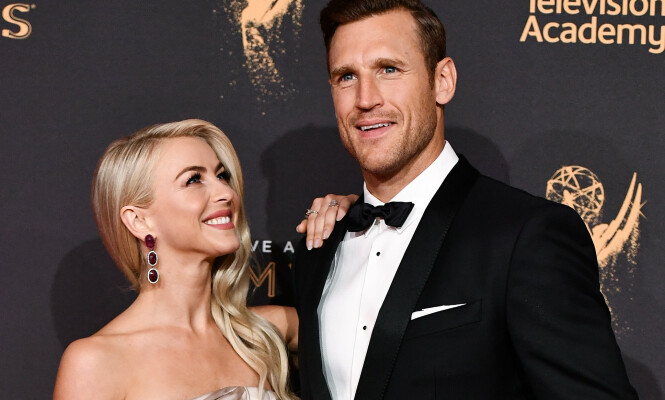 <strong>GIFT:</strong> Julianne Hough og Brooks Laich. Foto: Rob Latour/REX/NTB Scanpix