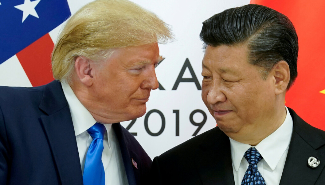 Kina raser mot Trump