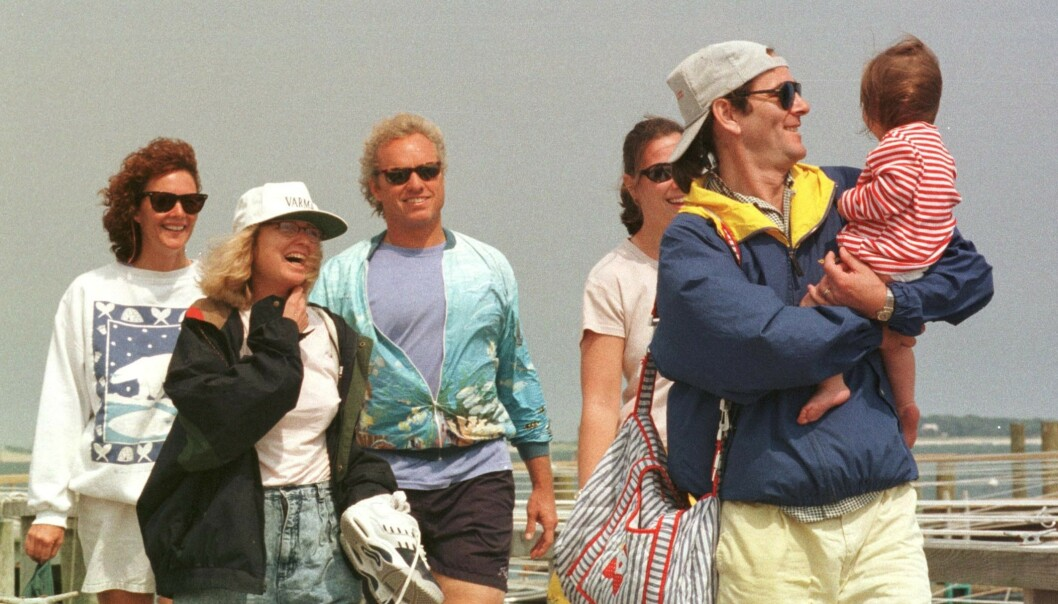 <strong>KENNEDY-FAMILIEN:</strong> Her er Saoirse med familien i Hyannis Port i New England i 1998. Foto: NTB Scanpix