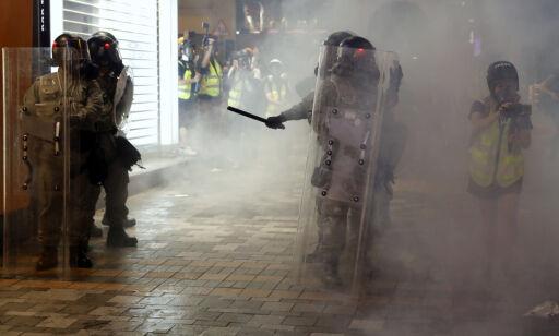 image: Tåregass mot demonstranter i Hongkong