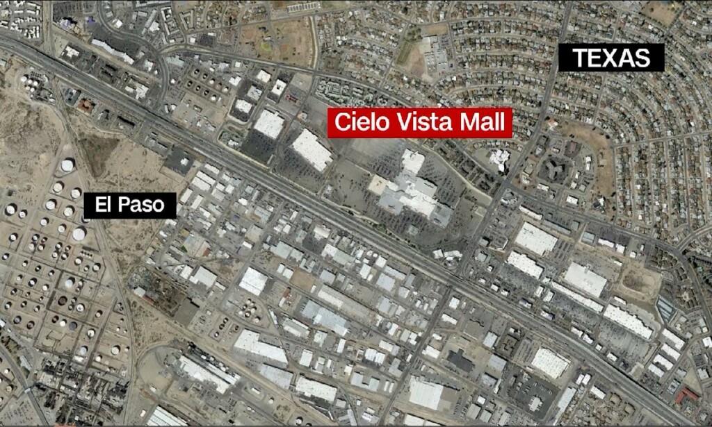ÅSTEDET: Det er ved Cielo Vista Mall skyteepisoden skal ha funnet sted. Satelittfoto: CNN