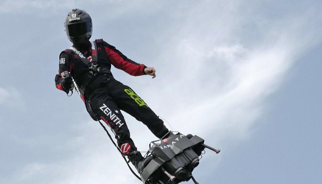 Fransk oppfinner lyktes med utrolig stunt