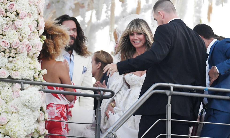 NYGIFT - IGJEN: Heidi Klum og Tom Kaulitz giftet seg lørdag om bord på luksusyachten Christina O. Yachten har tidligere blitt brukt av kongelige. Foto: NTB Scanpix