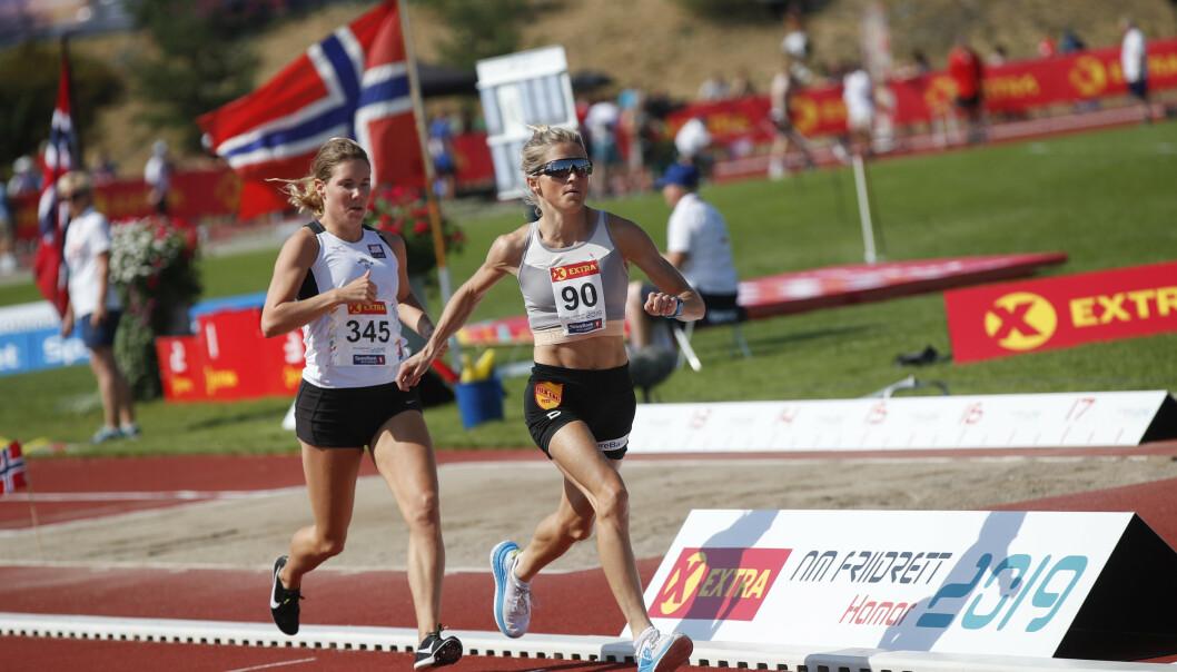 Therese Johaug tok NM-gull på 10.000 meter søndag. Foto: Vidar Ruud / NTB scanpix.