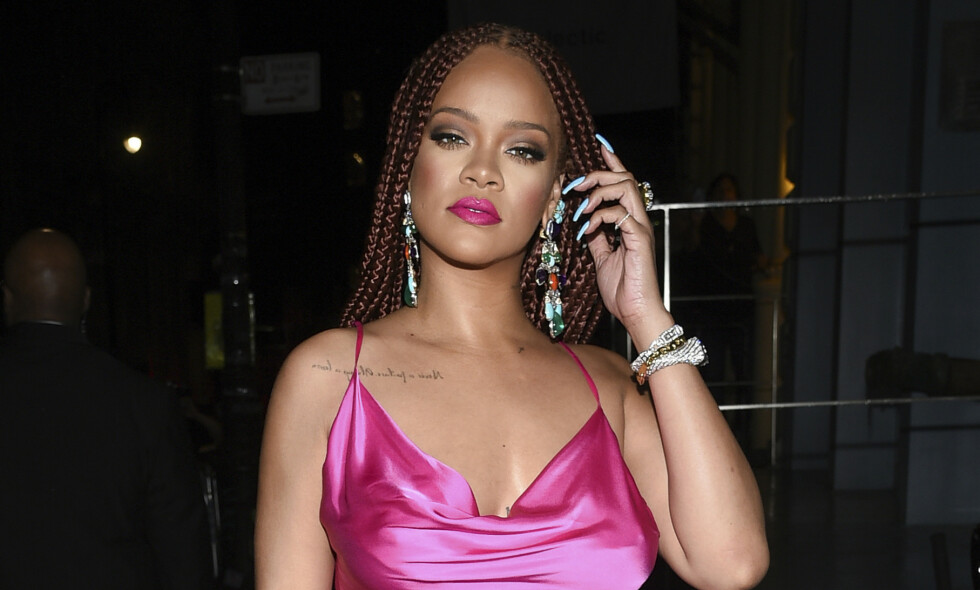 HEL LIK: Rihanna er helt sjokkert over likheten mellom seg selv og syv år gamle Ala'a. Foto: NTB Scanpix.