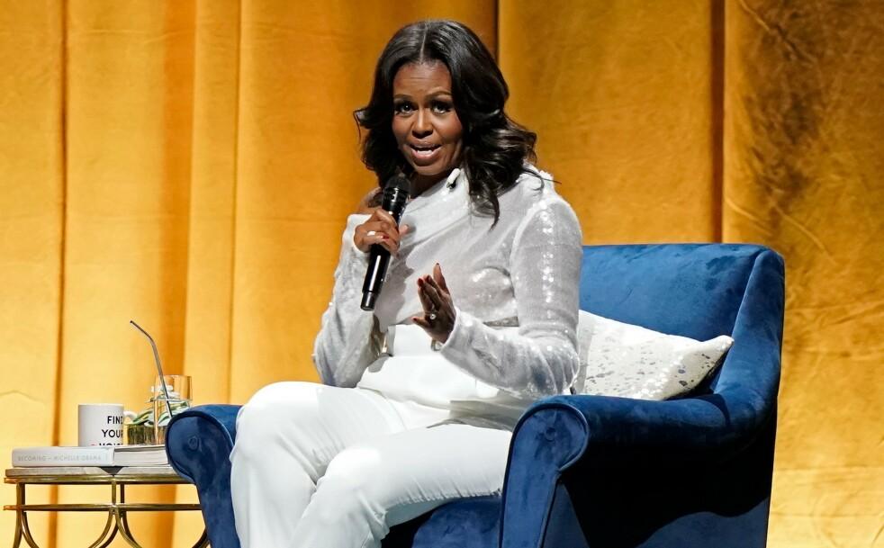 <strong>MICHELLE OBAMA:</strong> Kvinner må prioritere seg selv mer, mener Michelle Obama. FOTO: JIM YOUNG / AFP