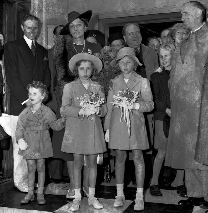 FAREFULL FERD: 28. august 1940 ankom kronprinsesse Märtha og de tre barna prins Harald, prinsesse Ragnhild og prinsesse Astrid New York etter å ha krysset Atlanteren i skip fra Barentshavet. FOTO: NTB Scanpix