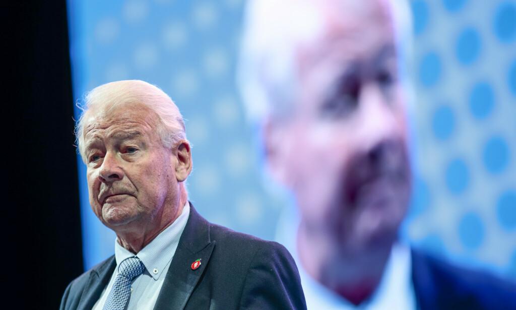 – Venstre elsker bompenger. Vi kan ikke fordra bompenger, sier Carl I. Hagen (Frp). Foto: Lise Åserud / NTB scanpix.