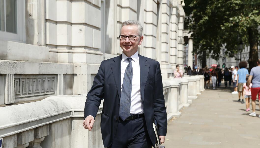 Michael Gove er skuffet over at EU ikke finner grunnlag for en ny runde med brexit-forhandlinger med britene. Gove er britisk statsråd uten portefølje, men med ansvar for å forberede brexit. Foto: AP / NTB scanpix