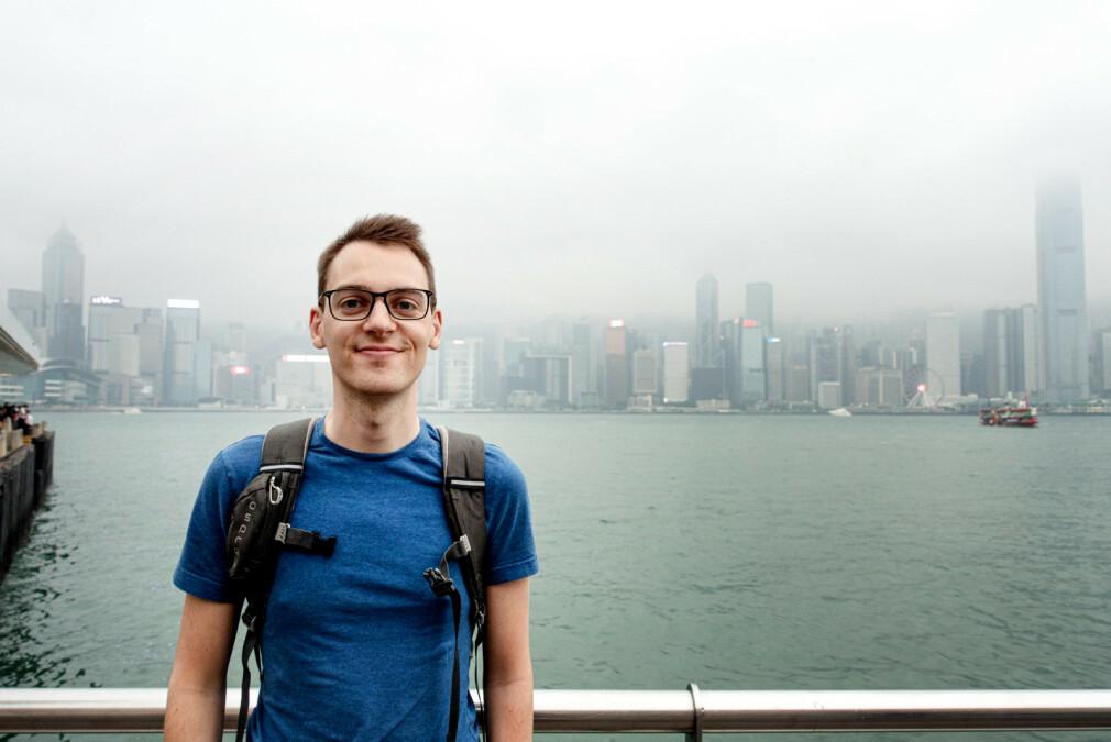 Alexander Samsig i EVRY har to lidenskaper; funksjonell programmering og reising. 📸: Privat