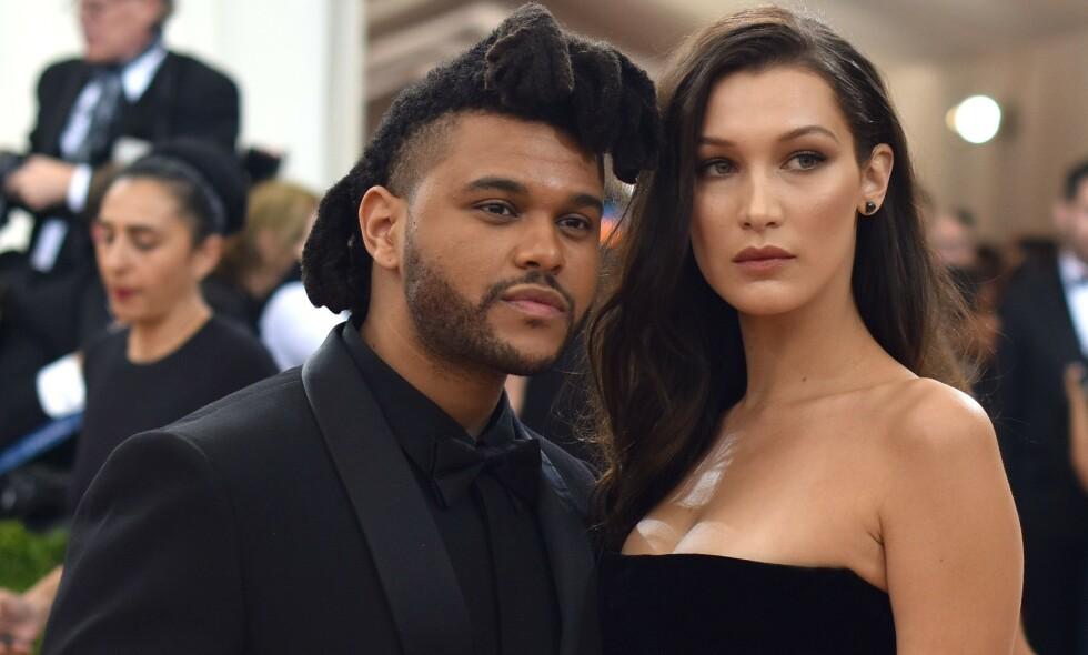 SLUTT: Forholdet mellom supermodellen Bella Hadid og artisten The Weeknd skal igjen være over. Foto: NTB Scanpix