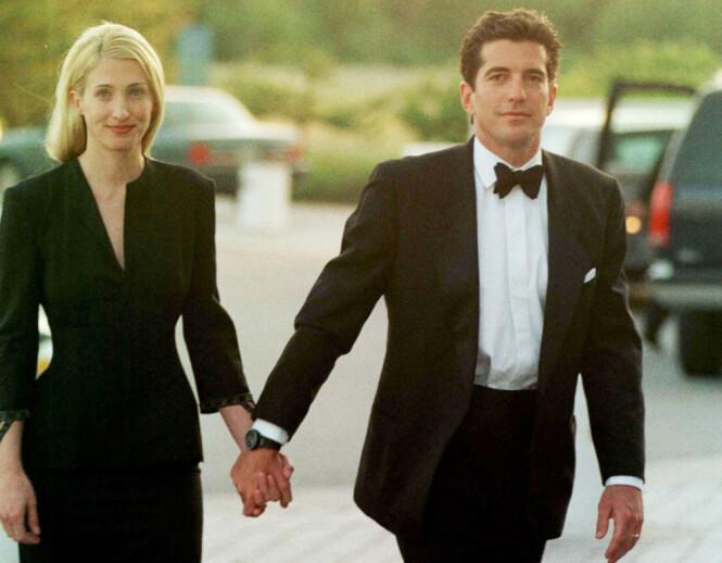 OMKOM I FLYSTYRT: 16. juli i år var det 20 år siden John F. Kennedy jr og kona Carolyn Bessette-Kennedy omkom i flystyrten ved Martha's Vineyard. Han ble 38 år og hun ble 33 år. FOTO: NTB Scanpix