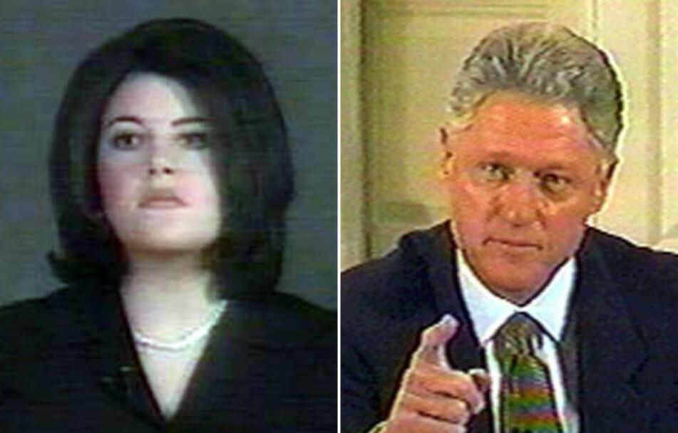 HEMMELIG AFFÆRE: Slik så det ut under Monica Lewinsky og daværende president Bill Clintons høringer i 1998. FOTO: Scanpix