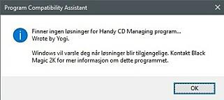 """Om du lurer på hvorfor jeg ikke har flere skjermdumper av selve programmene, er dette noe av forklaringen. Jeg skulle gjerne kontakta """"Black Magic 2K"""", men gruppa vår ble lagt ned rundt år 2K. 📸: Ole Petter Baugerød Stokke"""