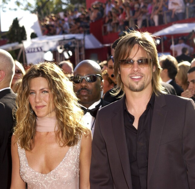 CONTACT: When Brad Pitt and Jennifer Aniston were together, they were listed as one of the hottest couples in Hollywood. Following Jennifer's divorce from Justin Theroux, several hopeful fans are looking for a reunion between the two. Shown here in 2002. Photo: NTB Scanpix