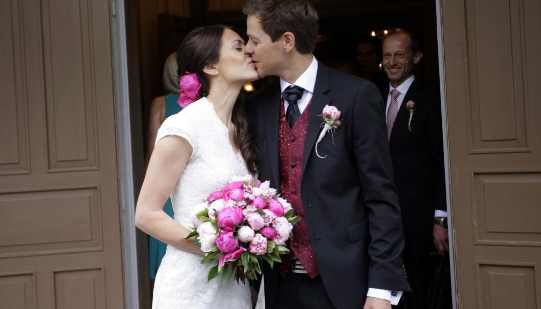 <strong>GODT GIFT:</strong> Paret giftet seg i 2012. Nå har de fått sitt tredje barn. Foto: NTB Scanpix