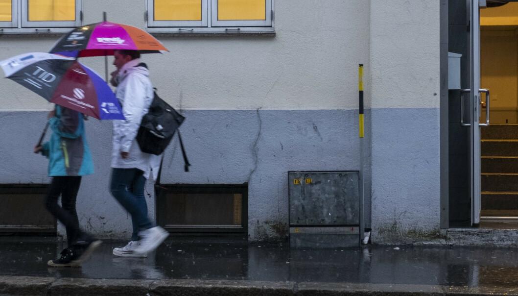Høstvær på vei innover mot Telemark og Agder