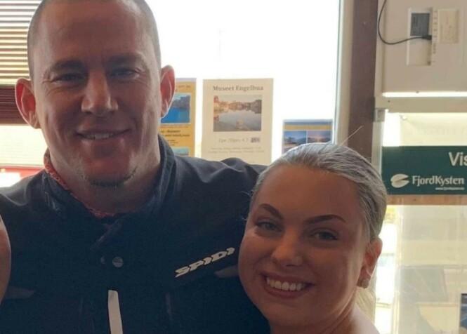 <strong>STJERNEMØTE:</strong> Fredag dukket Channing Tatum opp i Norge - igjen. Det ble et spesielt besøk for 19 år gamle Sofie Hopen Landøy. Foto: Privat