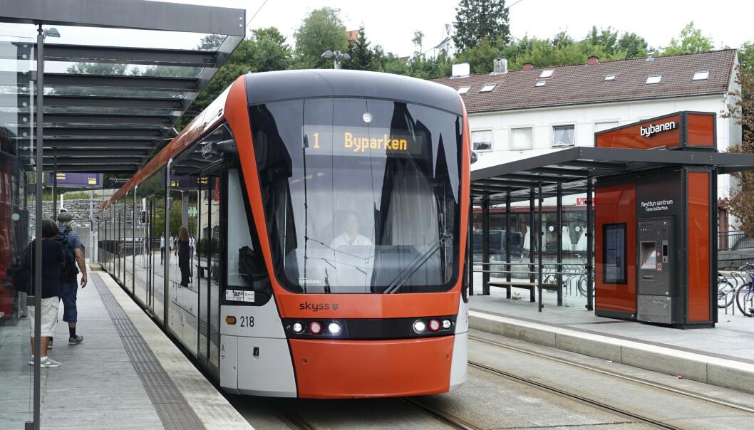 VIL REDDE BYBANEN: I Bergen vurdererVenstre å samarbeide med Rødt etter valget for å sikre utbyggingen av Bybanen til Åsane. Foto: Marianne Løvland / Scanpix