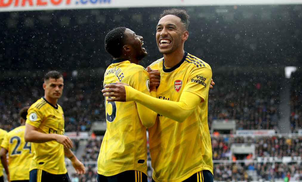 HELT: Pierre-Emerick Aubameyang ga Arsenal 1-0 i serieåpningen borte mot Newcastle. Foto: NTB Scanpix