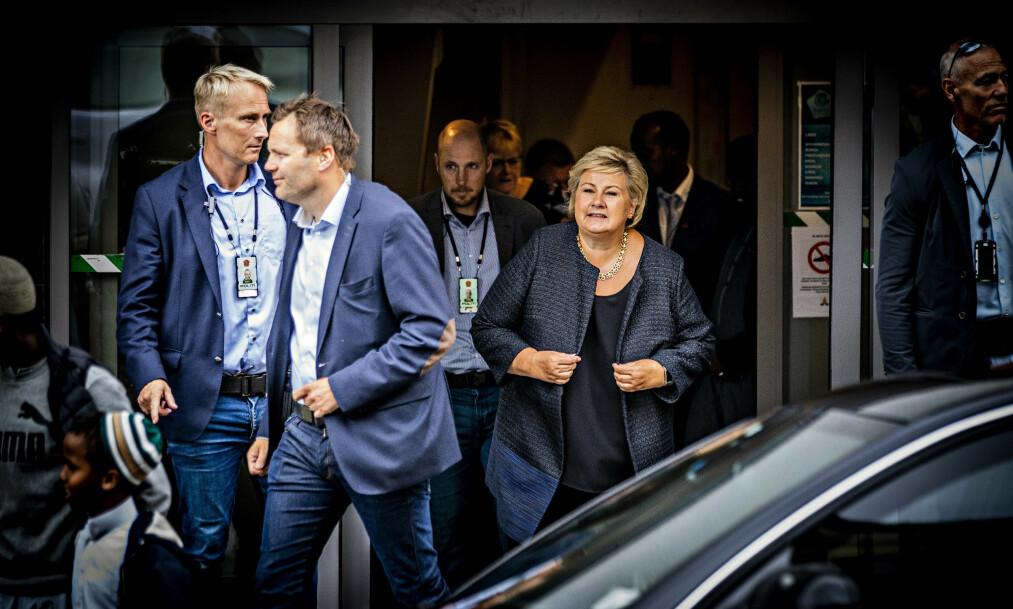 <strong>KRITISERES:</strong> Sveriges energiminister, Anders Ygeman, reagerer på Erna Solbergs kommentarer om at svenske nynazister kommer til Norge. Foto: Bjørn Langsem / Dagbladet