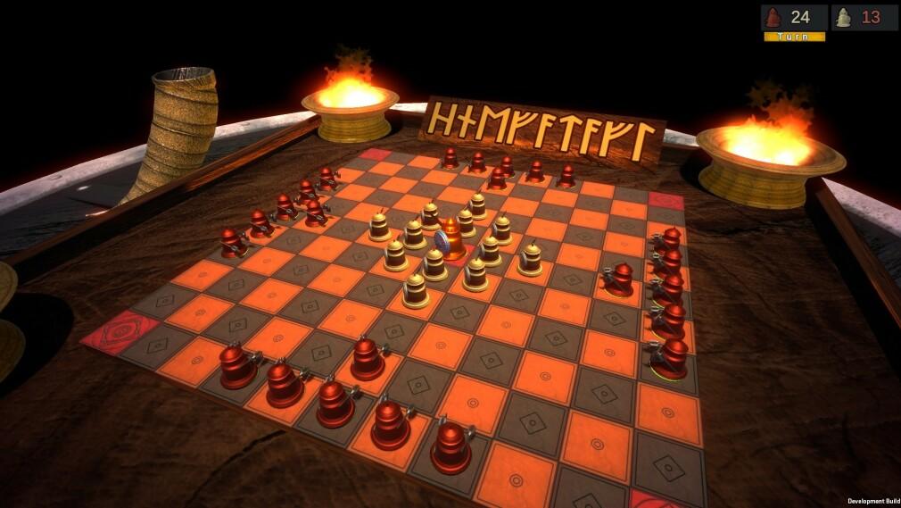 Viking Chess - Hnefatafl tar utgangspunkt i et potensielt eldgammelt brettspill fra vikingtida. 📸: Privat