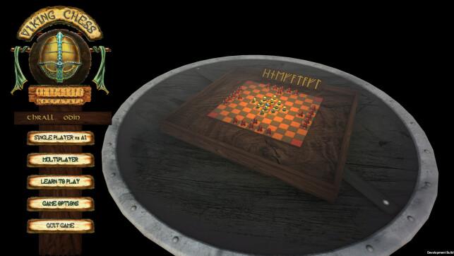 Viking Chess - Hnefatafl har både kunstig intelligens og flerspiller. 📸: Privat