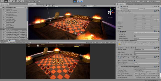 Viking Chess - Hnefatafl utvikles i Unity. 📸: Privat
