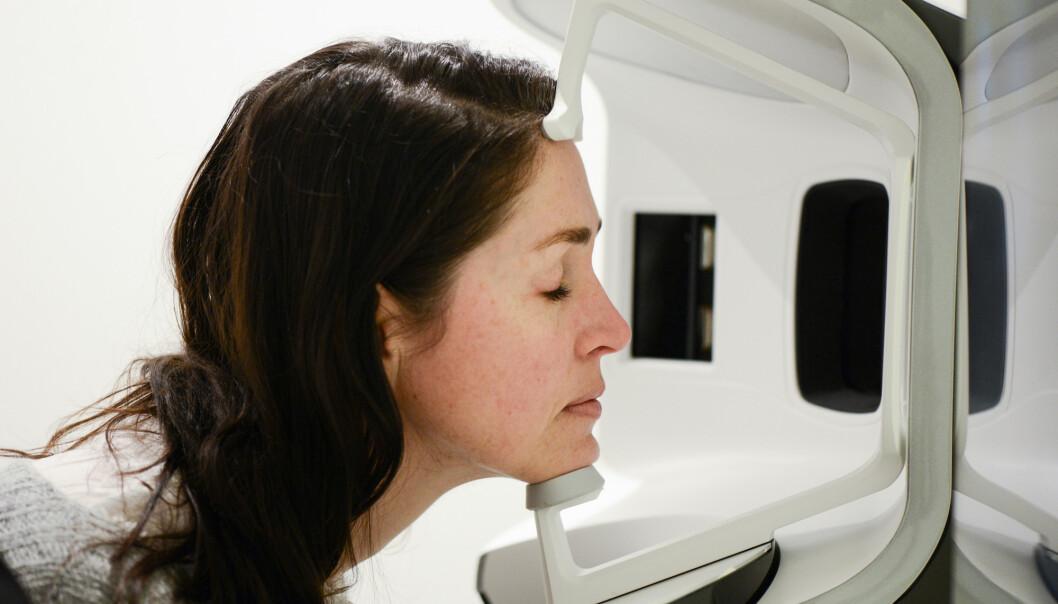 HUDSCAN: I mars gjennomførte Smenes og to andre testpersoner sin første hudscanning på Oslo Hudpleieklinikk.