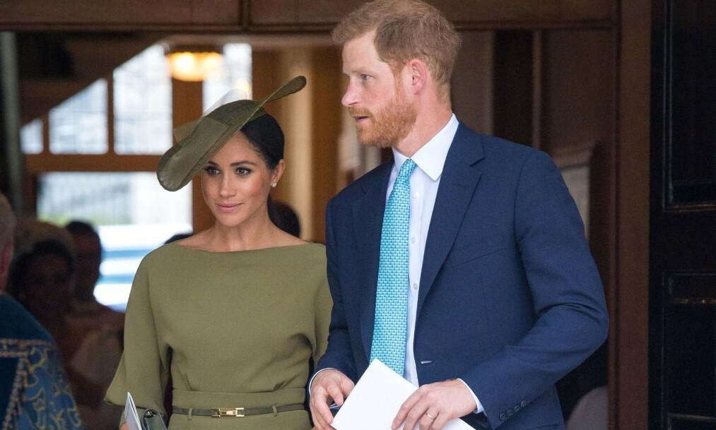<strong>FOR MYE KJÆRTEGN:</strong> Omgangskretsen til prins Harry skal visstnok himle med øynene over hertuginne Meghans væremåte under sosietetsmiddager. Foto: NTB Scanpix
