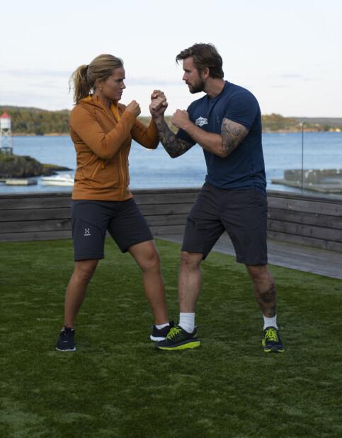 MOT HVERANDRE: Helene Olafsen og Stian Blipp konkurrerer på hvert sitt lag til høsten. Foto: August Sanengen/TV 2