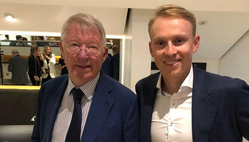 TOK BILDE SAMMEN: Men Henrik Kristoffersen forteller til Dagbladet at han ikke turte å snakke med Sir Alex Ferguson. Foto: Instagram / H_kristoffersen