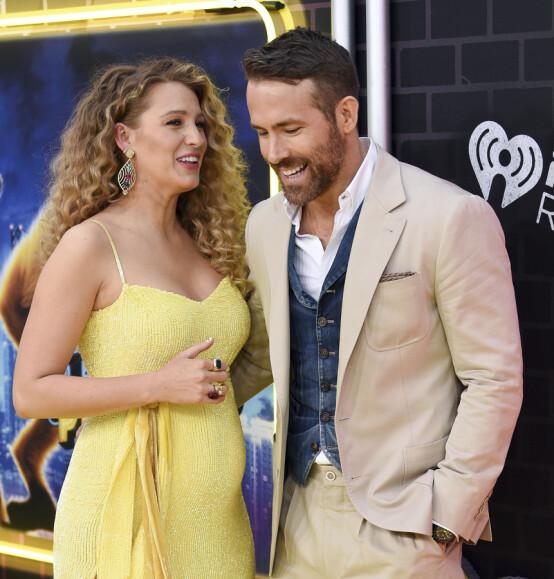 GRAVID IGJEN: I mai avslørte stjerneparet Ryan Reynolds og Blake Lively at de venter sitt tredje barn sammen. Foto: NTB Scanpix