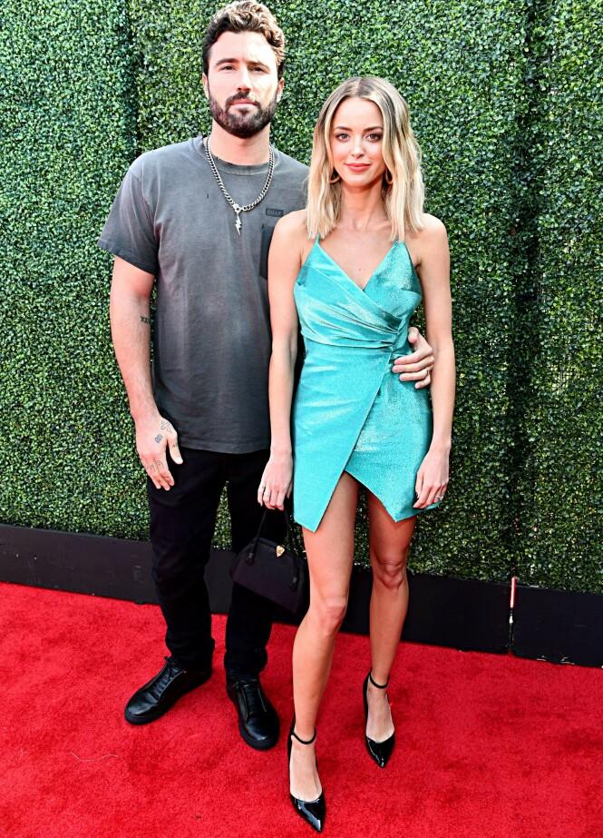 <strong>VIL OPPKLARE:</strong> Etter den siste tidens skriverier om både Brody Jenner, hans nylig fraseparerte kone og ekteskapetet deres, har Brody nå tatt til Instagram for å hylle Kaitlynn. Her er de to avbildet sammen i juni. Foto: NTB Scanpix