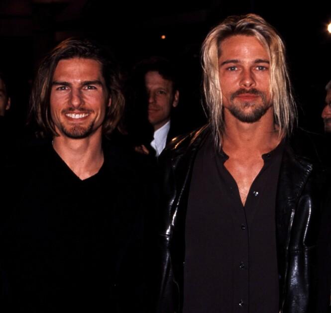 TILHENGER: Tom Cruise har vært medlem av scientologikirken siden 1990, og fikk rekruttert Brad Pitt for en kort periode. Her er de avbildet i 1994. Foto: NTB Scanpix
