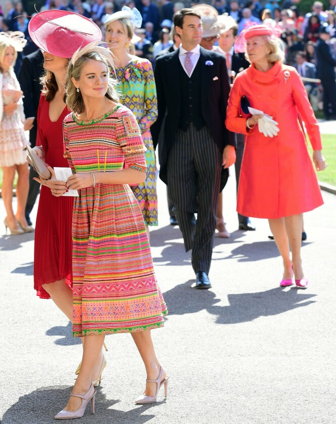 I BRYLLUPET: Cressida Bonas var invitert i bryllupet til ekskjæresten prins Harry og Meghan i mai 2018. FOTO: NTB Scanpix