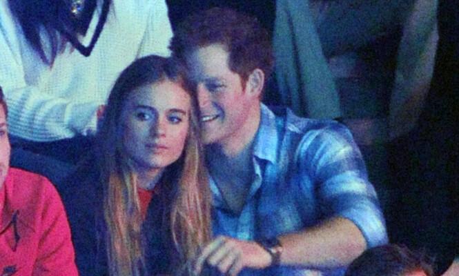 DEN GANG DA: Cressida Bonas og prins Harry fotografert under et arrangement på Wembley Arena i London i 2014. Året etter ble det slutt for godt. FOTO: NTB Scanpix