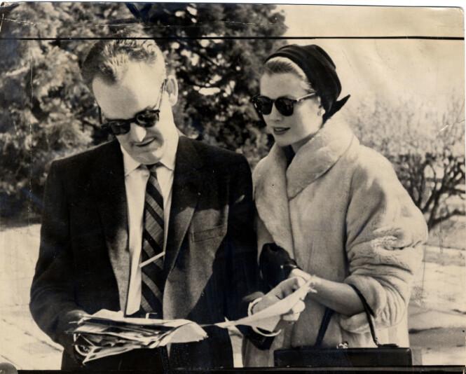 <strong>BERØMT PAR:</strong> Fyrste Rainier III var gift med Grace Kelly fra 1956 fram til hennes død. Han giftet seg aldri på nytt, og ble begravet ved siden av henne da han gikk bort i 2005. Foto: NTB Scanpix