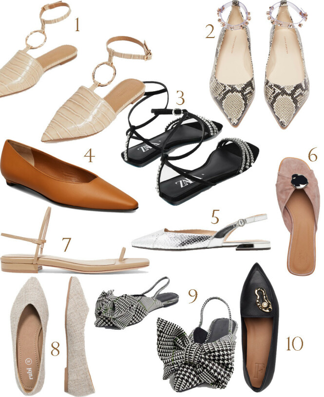 1. Asos, kr 275. 2. Sophia Webster via Matchesfashion.com, kr 2900. 3. Zara, kr 799. 4. Atp Atelier via Boozt.com, kr 2500. 5. Parfois via Zalando.no, kr 299. 6. Flattered via Boozt.com, kr 1795. 7. Studio Amelia via Net-a-porter.com, kr 2300. 8. Rubi Shoes by Cotton On via Zalando.no, kr 149. 9. Asos, kr 275. 10. Flattered via Boozt.com, kr 2395.