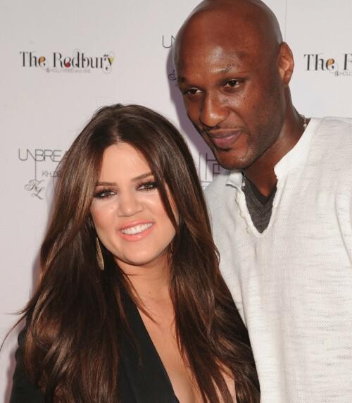 PROBLEMATISK: Khloé og Lamar møtte på store problemer i ekteskapet sitt. Foto: NTB Scanpix