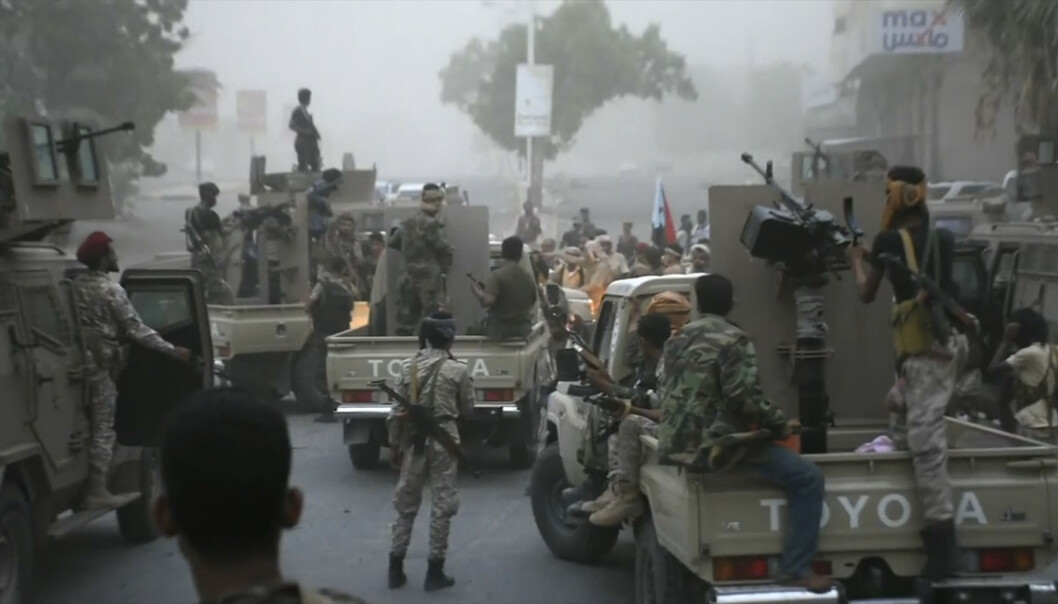 Separatister inntok nylig havnebyen Aden i Jemen, der landets internasjonalt anerkjente regjering sitter. Deres mål er at Sør-Jemen igjen skal bli et uavhengig land, slik det var fra 1967 til 1990. Foto: AP / NTB scanpix