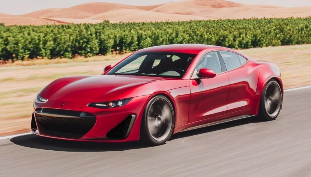 SUPERBIL: Drako Motors har avduket sin første elektriske bil. Drako GTE skal være leveringsklar allerede til neste år. Foto: Drako Motors