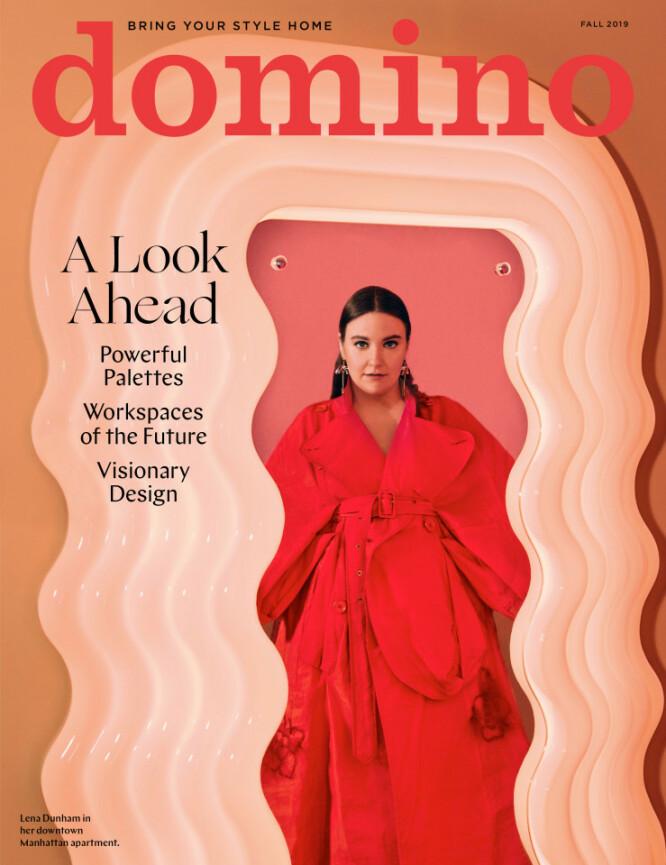 STILSIKKER: Lena Dunham innrømmer at innredningsstilen hennes ikke faller i smak hos alle. Foto: Faksimile/Domino Magazine